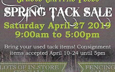 Spring Tack Sale